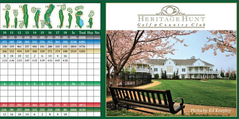 Scorecard - Heritage Hunt Golf Club